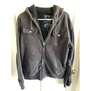 Men's Gray Zip Up